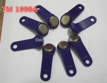 50pcs/lot 1990A-F5 TM card tm sauna lock card Dallas ibutton touch memory button with handle For guard tour not rewritable