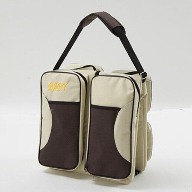 3 en 1-Bolsa de pañales-cuna de viaje-Estación de cambio multifunción portátil cama de viaje cuna bolsas para recién nacidos