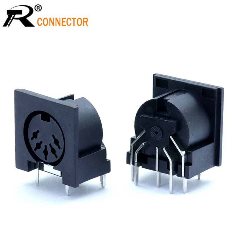 5 Pieces DIN Pin Male Plug Audio Jack Connector for PC Keyboard//Mouse DIY