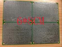 יפין חינם 10pc ירוק מסכת pcb 6*8CM pcb צד כפול HASL 1.6 עבה 1.27 המגרש אוניברסלי המעגלים