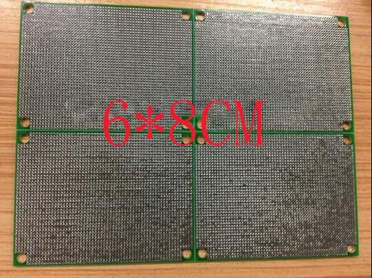 無料な shippin 10pc グリーンマスク pcb 6*8 センチメートル pcb 両面 hasl 1.6 厚い 1.27 ピッチユニバーサル回路基板
