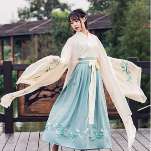 Image 3 - Chińskie tradycyjne wróżki kostium starożytna dynastia han księżniczka odzież narodowy strój Hanfu strój sceniczny ludowy kostium taneczny 90