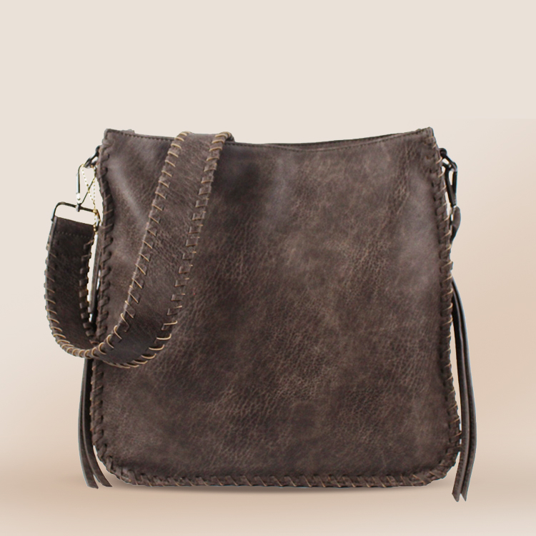 Boxy Vegan Leather Shoulder Bag цена