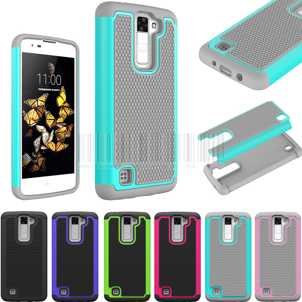 Anti-shock Heavy Duty Silicone Armor Protectiove Case For LG K8 Lte K350 K350E K350N K8 4G/PHOENIX 2 K371 / Escape 3 K373 Cover