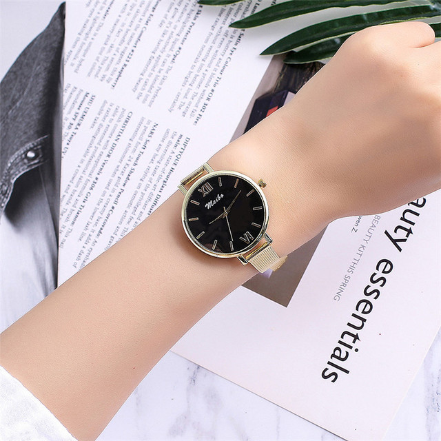 Women Bracelet Watches Luxury Gold Stainless Steel Wristwatches Ladies Fashion C