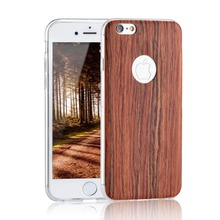 For iPhone5 5s SE 6 6s 6Plus 7 For Samsung J1 J3 A3 A5 2016 For Huawei P8 P9 Lite ultra thin Wooden TPU Case Soft Cover Case
