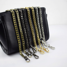 hot deal buy meetee 120cm hight quality metal chains purse  buckles shoulder strap handbag replacement diy  bag parts accessories