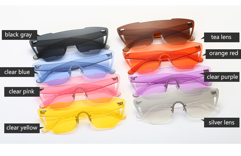 HTB1Zlx3RXXXXXcQXXXXq6xXFXXXr - Candy Color Sunglasses Flat Top Rimless Sunglasses