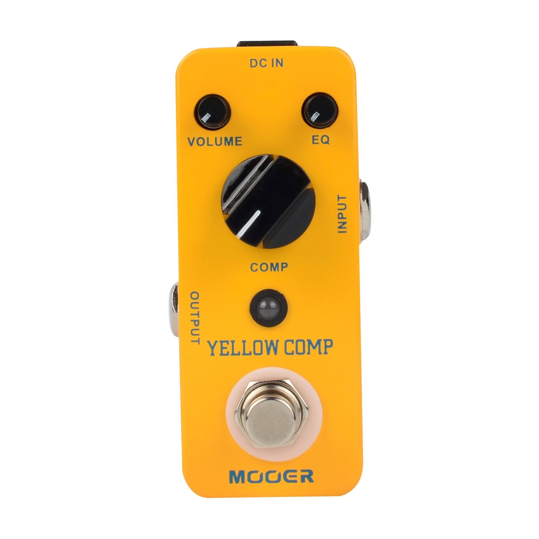 Mooer Yellow Comp Compressor Sound Guitar Effect Pedal True bypass Metal Shell MCS2