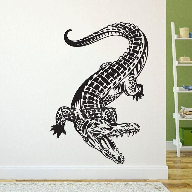 crocodile alligator wall art vinyl sticker decal decor living room