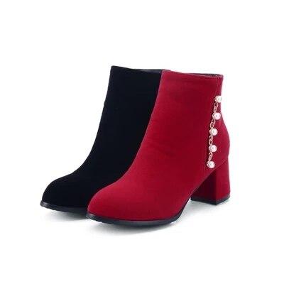 Nupcial Las Con Cremallera Mujeres De Botas Zapatos Botines Boda Beige negro Rojas Axw8Z55qX