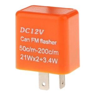 Image 4 - 1 Pcs 12V 2 핀 조정 가능한 주파수 LED 성 노출증 릴레이 차례 신호 깜박이 표시기 대부분의 오토바이 오토바이 액세서리