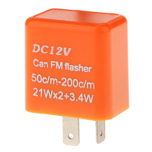 Image 4 - 1 Pcs 12V 2 Pin Adjustable Frequency LED Flasher Relay Turn Signal Blinker Indicator For Most Motorcycle Motorbike Accessories