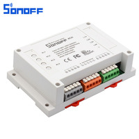 Sonoff 4CH Wireless Controller WIFI Smart Switch Intellige Home Light Remote Snoff 10A 2200W 4 Gang