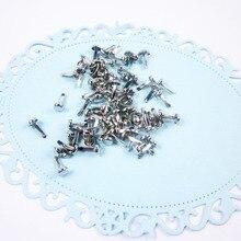 mini silver classic diy decorative brads handmade gift metal nail cheap 500pcs/lot dia 4.5mm