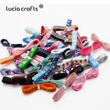 Lucia crafts 10 ярдов/партия Случайные Смешанные печатные корсажные ленты DIY ручной работы подарок/упаковка/бант для волос атласные материалы T0202