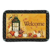 Autumn Lantern Indoor Outdoor Doormat Fall Welcome Door Mats For Living Room Bedroom Soft Lightness Short Plush Fabric Floor Mat