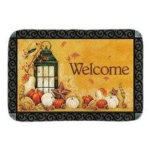 Autumn Lantern font b Indoor b font Outdoor Doormat Fall Welcome Door Mats For Living Room