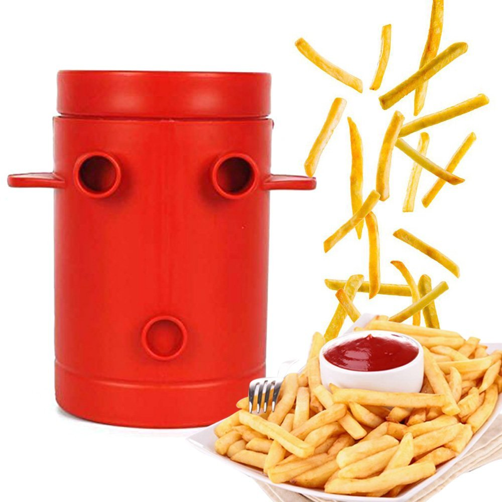 Maker Potato Slicers French Fries Maker French Fries Cutter Machine & Microwave Container No Deep Fry to Make Healthy Fries|Manual French Fry Cutters| - AliExpress