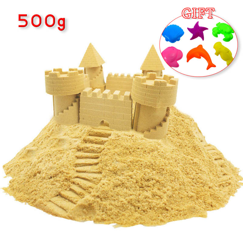 500g Dynamic Sand Toy Clay Educational Colored Soft Magic Sand Space Indoor Arena Play Sand Kids Toys For Children Gift Model