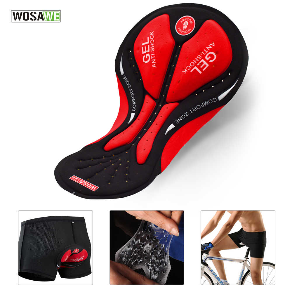 WOSAWE Men Women DIY Cycling Shorts Cushion 3D Gel Pad Breathable Road MTB Bike Bicycle Riding Cushion Cycling Underwear Padded