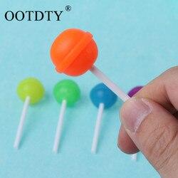 6 stks/partij Creatieve Zoete Snoep Lolipop Gum Voor Kinderen Gift Cleaner Materiaal Briefpapier Schoolbenodigdheden