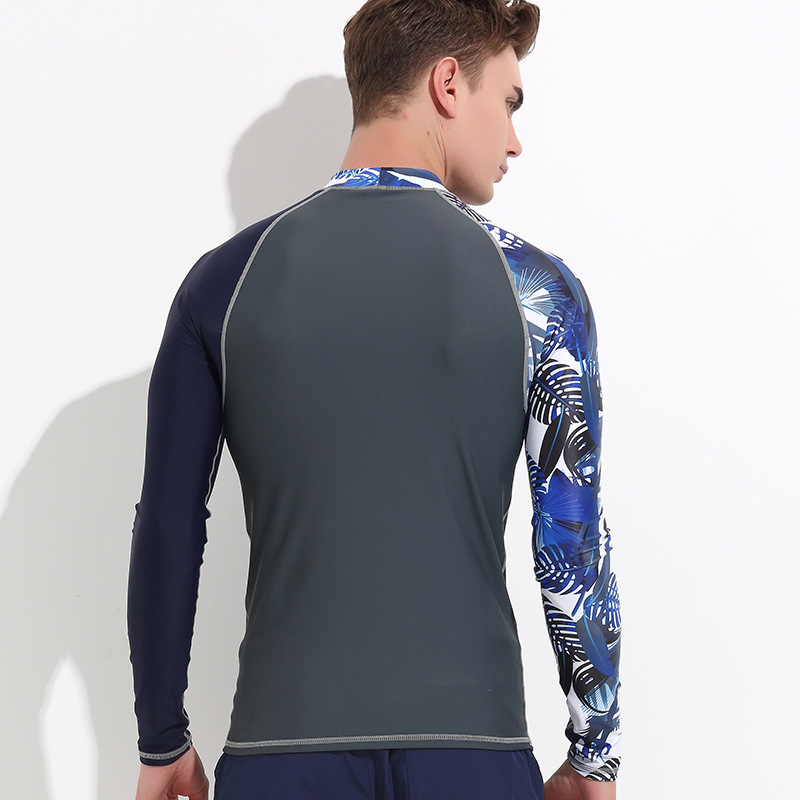 Wetsuit men rashguard long sleeve swim shirts tights sun protection surf T Shirts snorkeling swimwear quick dry in Rash Guard from Sports Entertainment