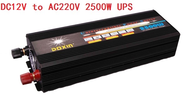 цена на 2500W DC12V to AC220V Modified Sine Wave Inverter with UPS battery charging function