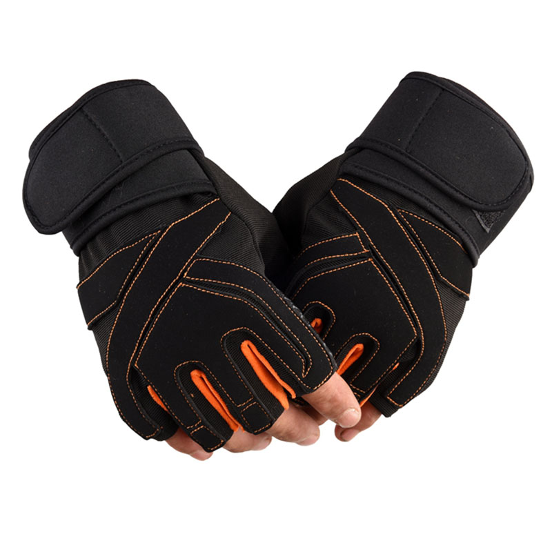 Gym Weight Lifting Gloves Dumbbell Weightlifting Fitness Exercise Non-Slip Breathable Half Finger Sports Training Gloves