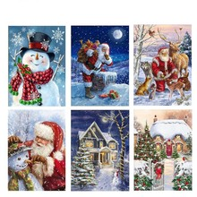 Diy Diamond Painting Embroidery Cross Stitch Santa Christmas Gift  Mosaic Needlework Art Deco