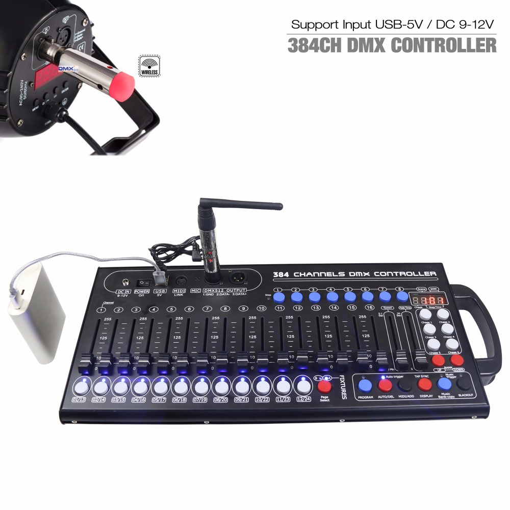 Image 2 - New Ultra thin 384ch DMX LED Controller Stage Lighting Controller Moving Head Console For DJ KTV Move RGB lamp-in Stage Lighting Effect from Lights & Lighting