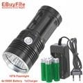 10T6 LED Фонарик КОРОЛЬ T6 18650 фонарик водонепроницаемый перезаряжаемый Фонарик Camp Свет Лампы Охота
