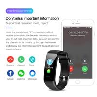 phone screen Smart Bracelet C20 Waterproof Heart Rate Monitor Fitness Tracker Wristband Color Screen Sport Smart Band for Smart Phone (1)