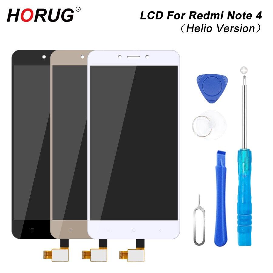 HORUG 100 AAAA Original LCD For Xiaomi Redmi Note 4 Screen LCD Helio Version Replacement Display