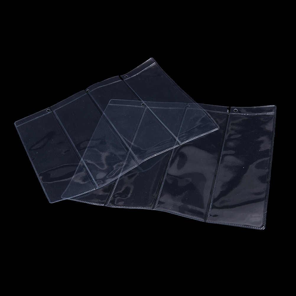 1 PZ 4 linea/Pagina Soldi Coin Album banconote IN PVC trasparente a fogli ampolle di Detentori di Moneta