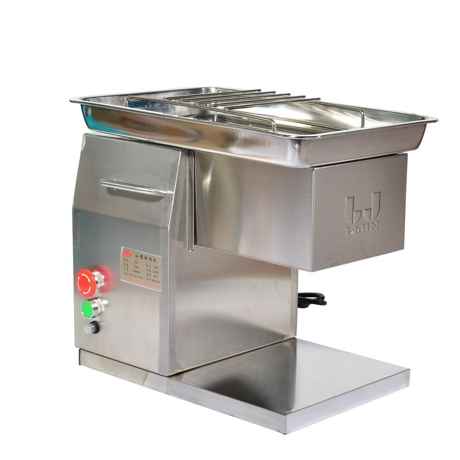 110 V/220 V Edelstahl Fleisch Slicer/cutter Desktop Typ Fleisch Cutter Fleisch Schneiden Maschine 2,5mm -10mm Klinge Größe Kann Wählen Online Rabatt