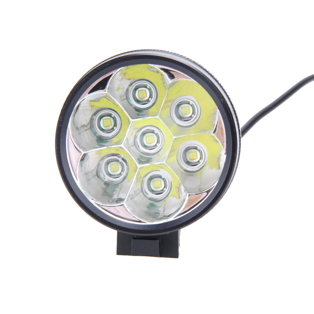 ФОТО 15000Lm Waterproof Bike Bicycle Lights 7X CREE T6 LEDs Front Head Light + Safety Rear Flashlight Torch Lamp Bicycle Accessories