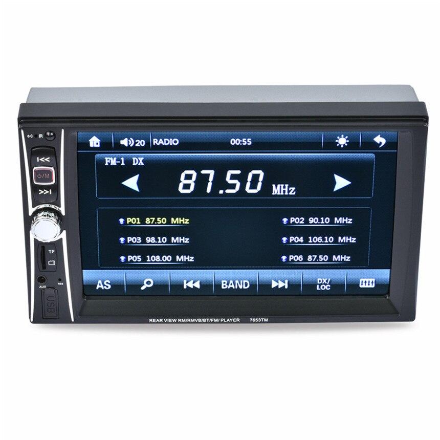 imágenes para Alta Calidad 7 Doble 2 Din Pantalla Táctil En el tablero de Coches Stereo Reproductor de Mp3 Radio FM Aux + Cámara
