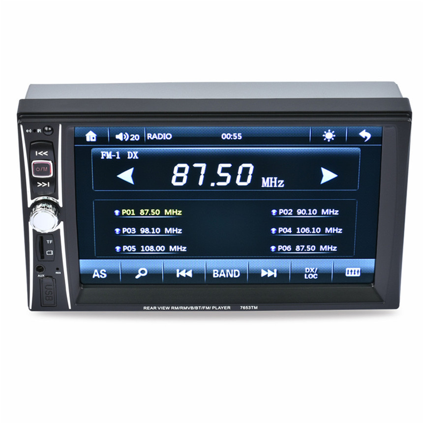 ФОТО Luxury Car Worlds 7 Double 2 Din Touchscreen In dash Car Stereo Radio Mp3 Player FM Aux + Camera