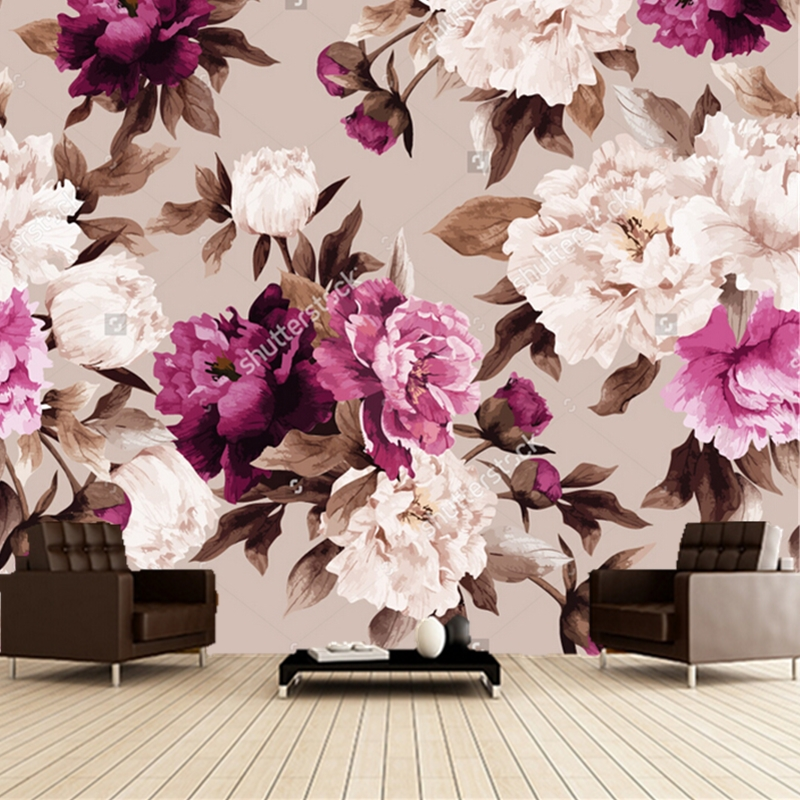 Custom floral wallpaper,Rose watercolor,3D retro painting for living room bedroom sofa backdrop waterproof wallpaper custom baby wallpaper snow white and the seven dwarfs bedroom for the children s room mural backdrop stereoscopic 3d