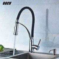GGCV Kitchen Faucet Rubber Design Faucet Turn The Faucet Without Dead Ends Chromium Plated Faucet Cold