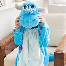Kigurumi 블루 몬스터 대학 sulley sullivan onesies 잠옷 만화 의상 코스프레 잠옷 파티 드레스 pijamas