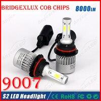 2016 NEW 1 Set 9007 HB5 60W 8000LM LED Headlight System Light Kit Bridgelux COB Chip