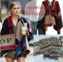 Outwear Coat Shawl Poncho Prorsum Pashmere Scarf Monogramed Poncho Brand Women Cape and Poncho Plaid Blanket Cloak Poncho Cape