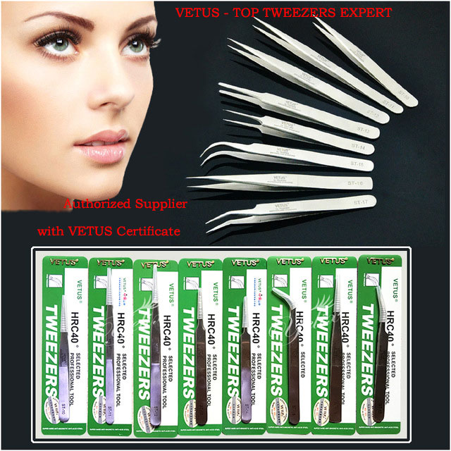 Maquiagem Profissional Stainless Steel Lashes Tweezers Makeup Ferramentas Pinzas Cejas Eyelash Extension Tweezer Pincet VETUS brand new stainless steel eyebrow tweezer 3d fan eyelash extension tweezers hair removal makeuo tool for women