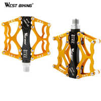 WEST BIKING Gold Ultralight Aluminum Mountain Road BIke Bicycle Bearing Pedals To Bike MTB Bicicleta Ciclismo Cycling pedals