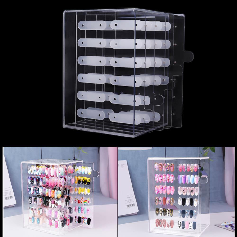 3 Layers/1 Layer False Nail Art Gel Polish Color Pull Style Show Box Nail Art Display Acrylic Magnetic Board Display Tools