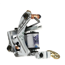 Pro Tattoo Machine Shader & Liner Carbon Steel Rotary Assorted Tatoo Motor Gun Instrument 10 Wraps Coils Permanent Makeup Tools