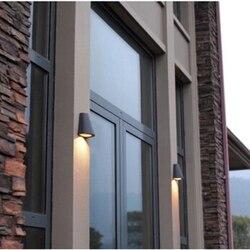 3 W HA CONDOTTO LA Lampada Da Parete Esterna Impermeabile Nero/Grigio di Luce In Alluminio Apparecchio di Imbottiture Illuminazione 110V220V240V Esterna Giardino Portico di Illuminazione
