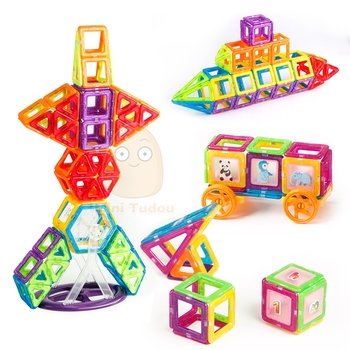Mini 200PCS-46PCS Magnetic Designer Constructor Toy For Boys Girls Magnetic Building Blocks Magnet Educational Toys For Children 6